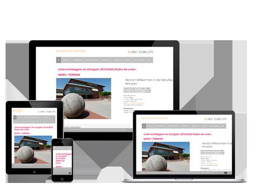 Webdesign Kempten Berufsschule 3 in Kempten