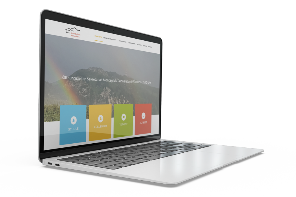 Muenswebit Home Grundschule Rettenberg Webdesign Desktop