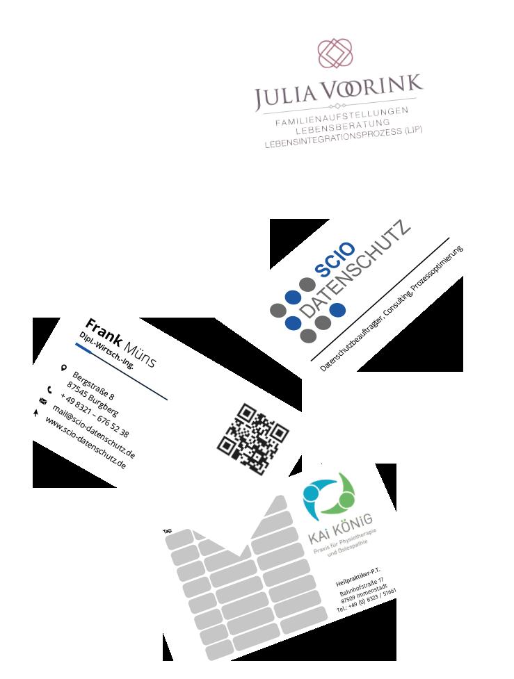 Muenswebit Grafikdesign & Printmedien Visitenkarten