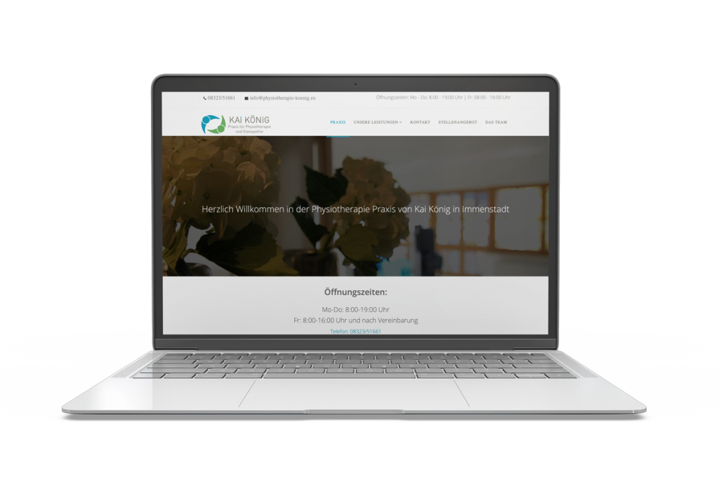 Muenswebit Home Physiotherapie Kai König Immenstadt Webdesign Desktop