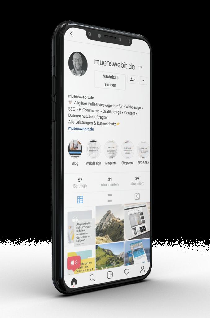 Muenswebit Social Media Marketing Instagram