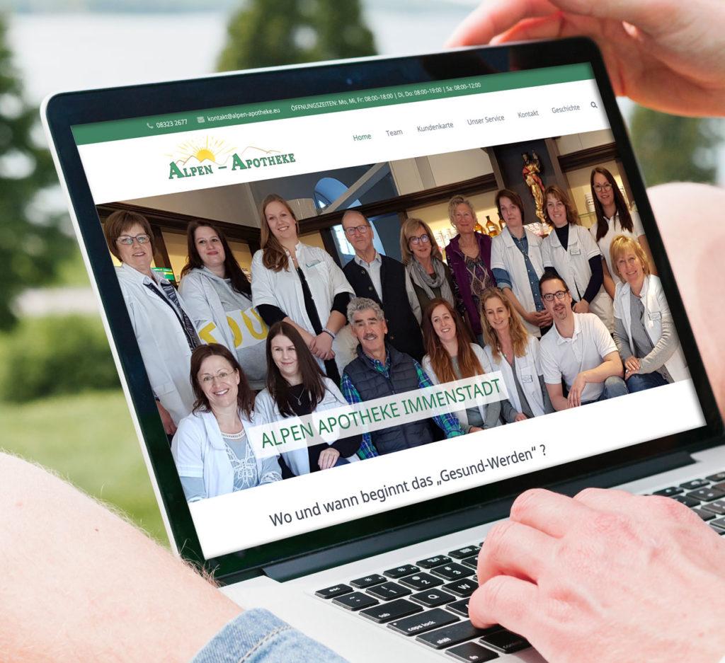 Muenswebit Webdesign Immenstadt Alpen Apotheke