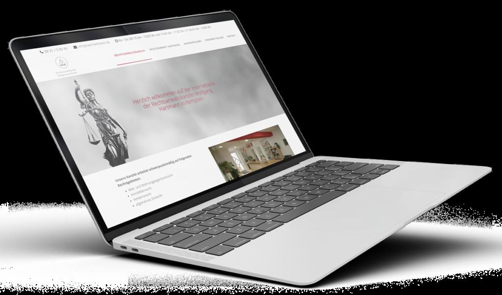 Muenswebit Webdesign Kempten Rechtsanwalt Hartmann