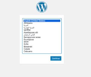 Wordpress auf docker