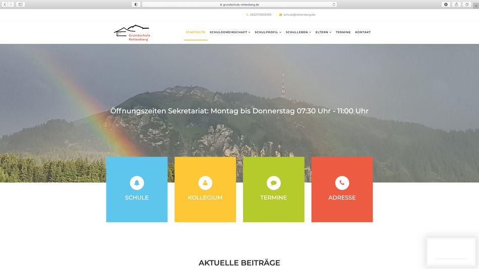 Webdesign GRUNDSCHULE RETTENBERG