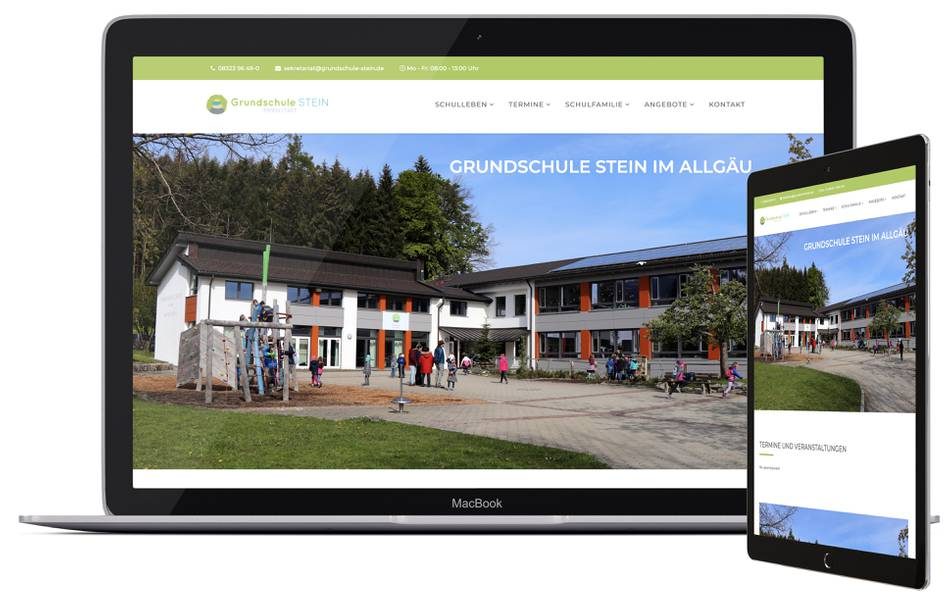Webdesign GRUNDSCHULE STEIN Immenstadt
