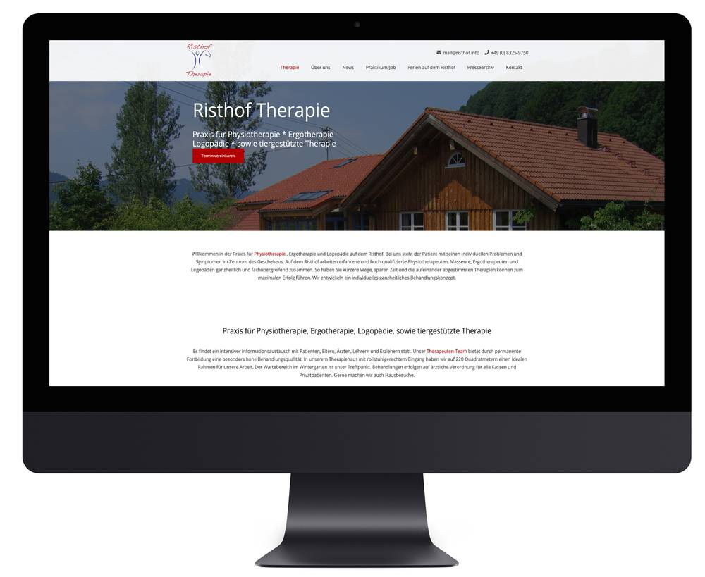 Webdesign RISTHOF Therapie