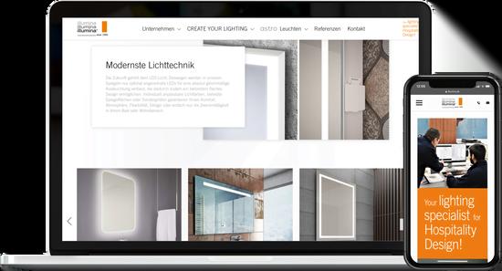 Webdesign ILLUMINA Leuchten