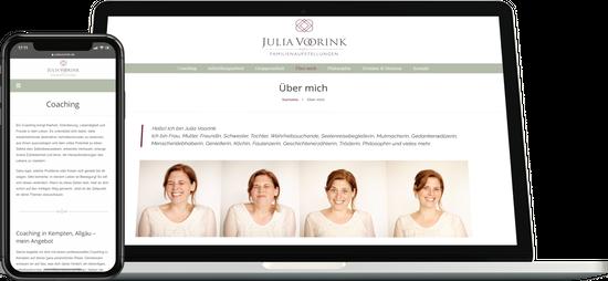 Webdesign JULIA VOORINK