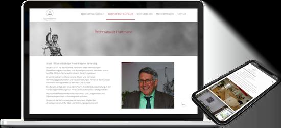Webdesign Rechtsanwaltskanzlei HARTMANN