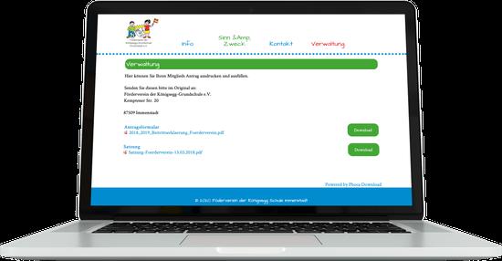 Webdesign FÖRDERVEREIN Königsegg Grundschule