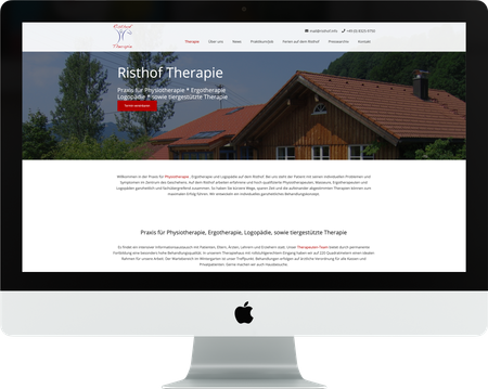 Webdesign RISTHOF Therapie