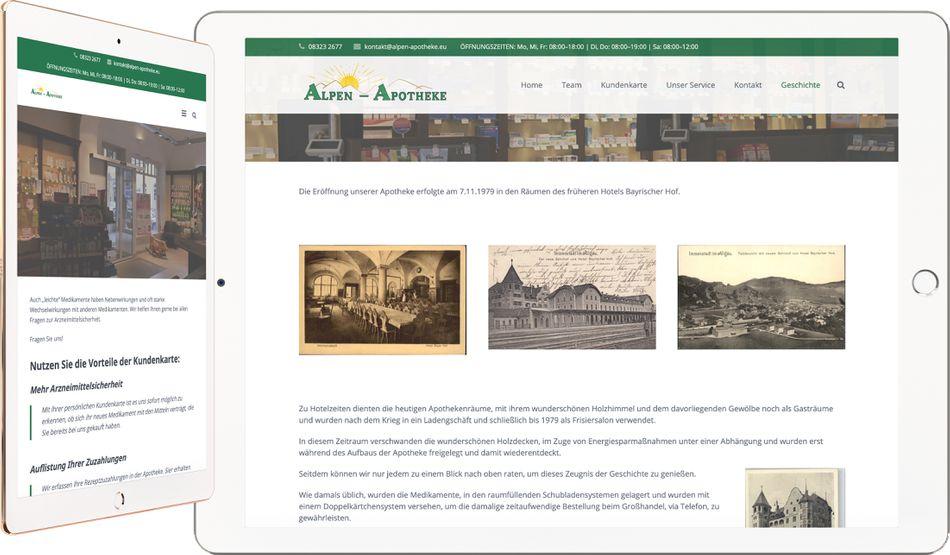 Webdesign ALPEN APOTHEKE Immenstadt