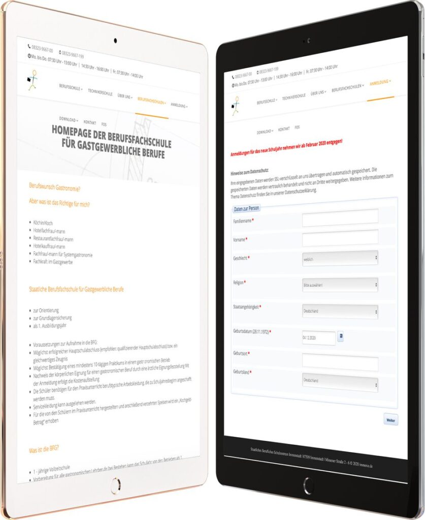 Webdesign BERUFSSCHULE IMMENSTADT