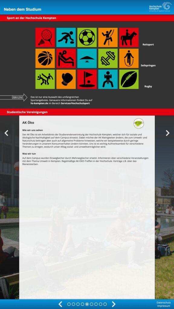 Webdesign HOCHSCHULE Kempten