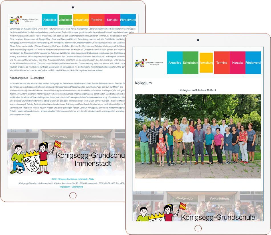 Footer Webdesign KÖNIGSEGG GRUNDSCHULE