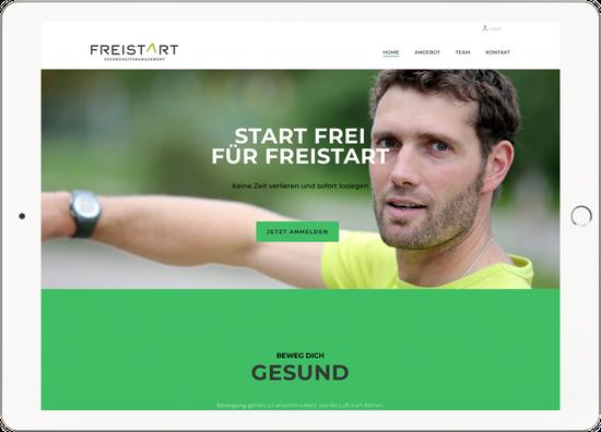Titel Webdesign FREISTART