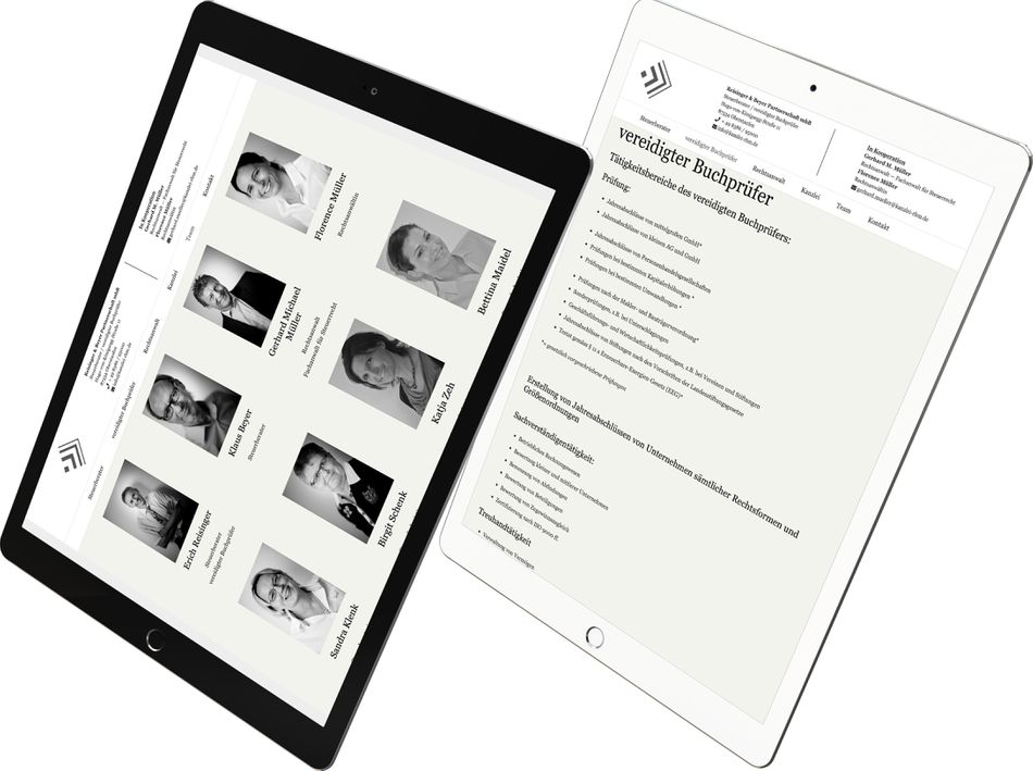 Footer Webdesign KANZLEI RBM