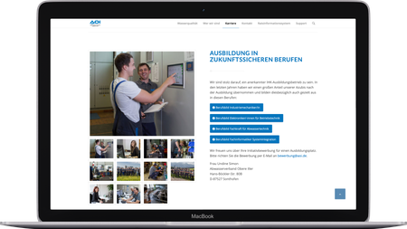 Middle Webdesign ABWASSERVERBAND OBERE ILLER