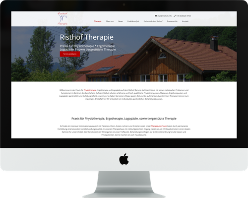 Titel Webdesign RISTHOF THERAPIE