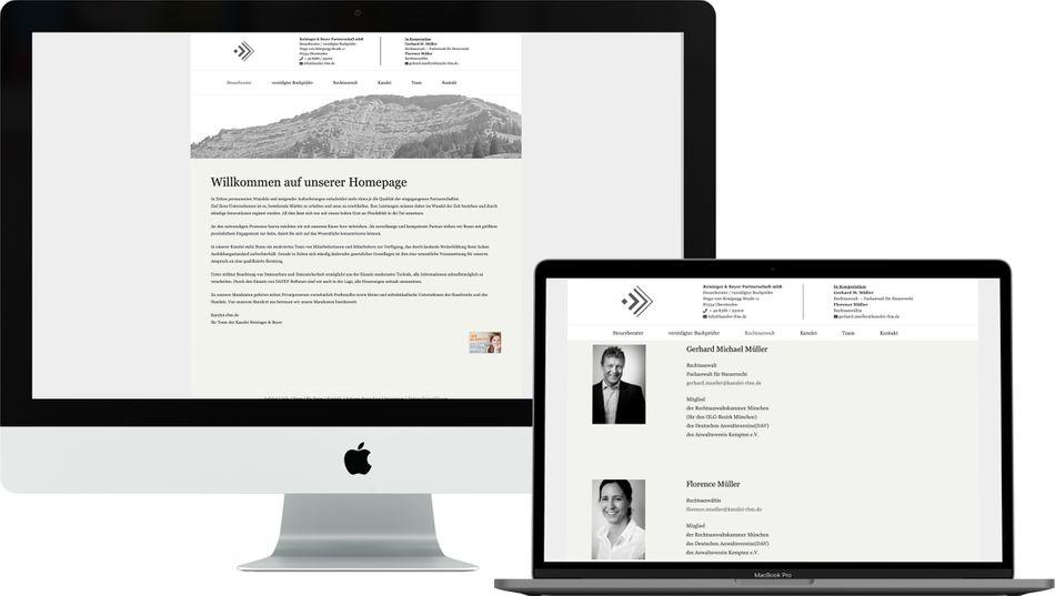 Titel Webdesign KANZLEI RBM