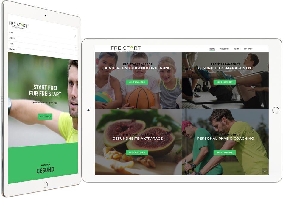 Footer Webdesign FREISTART