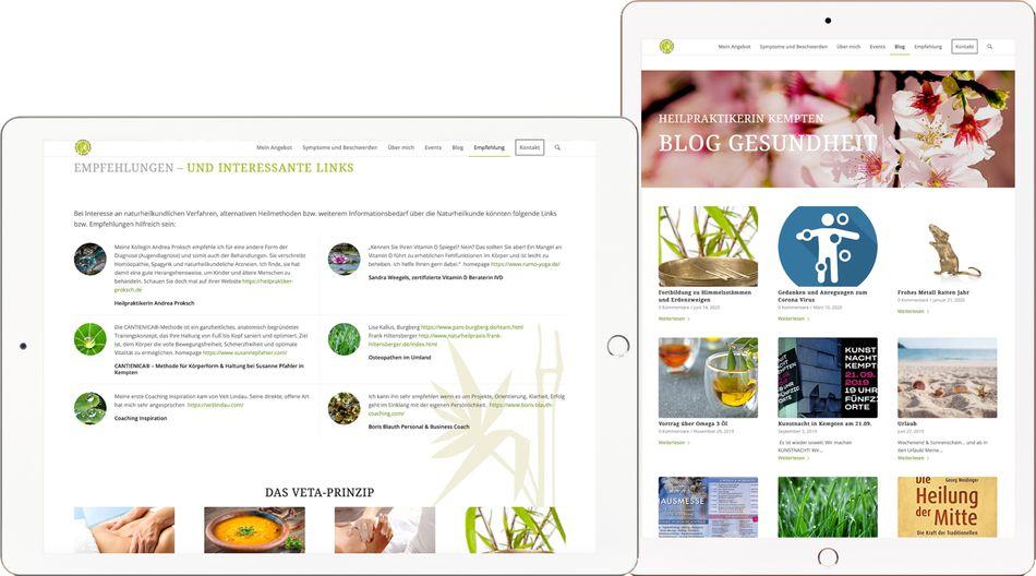 Footer Webdesign HEILPRAKTIKERIN KEMPTEN